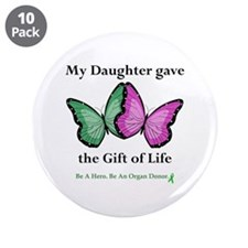 "Daughter Gift 3.5"" Button (10 pack)"