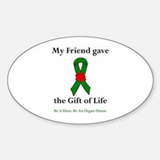 Friend Donor Oval Decal
