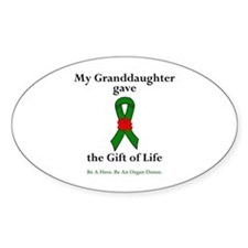 Granddaughter Donor Oval Decal
