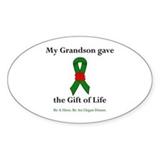 Grandson Donor Oval Decal