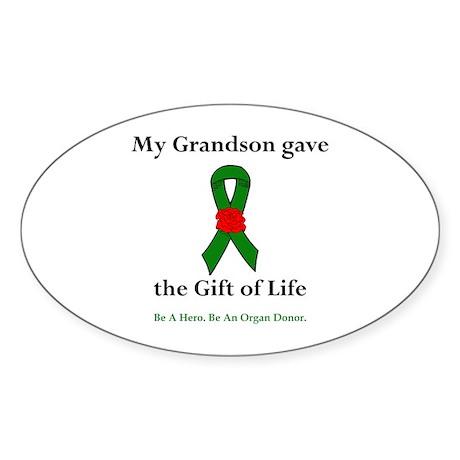 Grandson Donor Oval Sticker