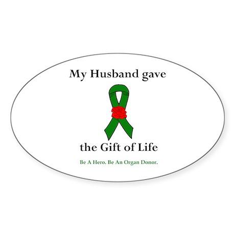 Husband Donor Oval Sticker (10 pk)
