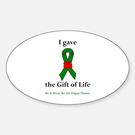 I Donor Oval Decal