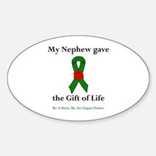 Nephew Donor Oval Decal