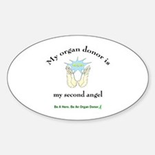 Organ Donor Angel Wings Oval Decal