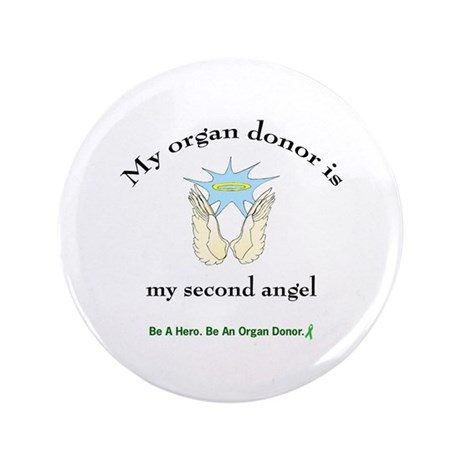 """Organ Donor Angel Wings 3.5"""" Button"""