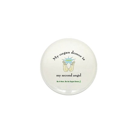 Organ Donor Angel Wings Mini Button (10 pack)