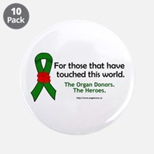"""Organ Donor Heroes 3.5"""" Button (10 pack)"""