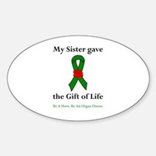 Sister Donor Oval Decal