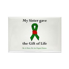 Sister Donor Rectangle Magnet