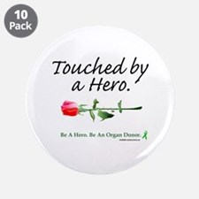 """Touched by a Hero 3.5"""" Button (10 pack)"""