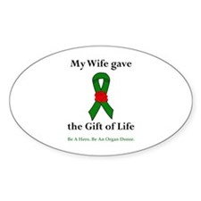 Wife Donor Oval Decal