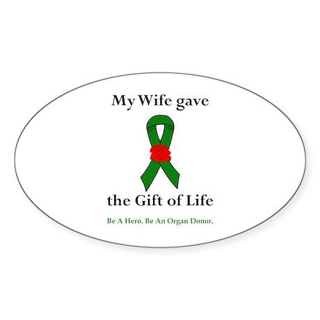 Wife Donor Oval Sticker