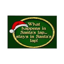 Santa's Lap Rectangle Magnet