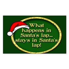 Santa's Lap Decal