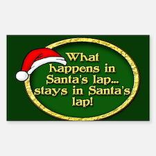 Santa's Lap Sticker (Rectangle)