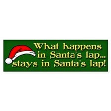 Santa's Lap Bumper Sticker