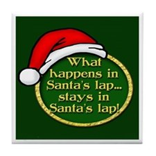 Santa's Lap Tile Coaster