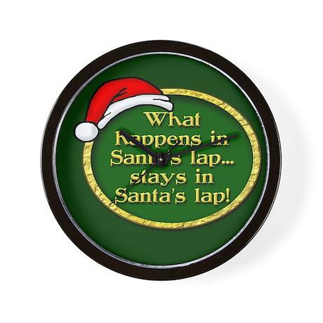 Santa's Lap Wall Clock