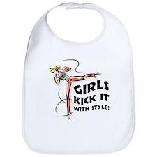 Girls Kick It with Style 1 Bib