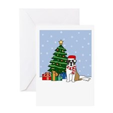 St Bernard Holiday Greeting Card