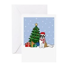 St Bernard Howling Holiday Greeting Cards (20 Pk)
