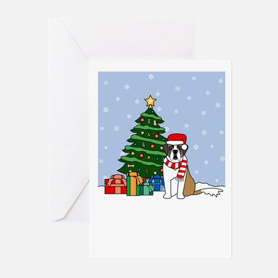 St Bernard Howling Holiday Greeting Cards (20 Pk)