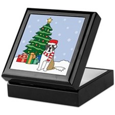 St Bernard Christmas Keepsake Box