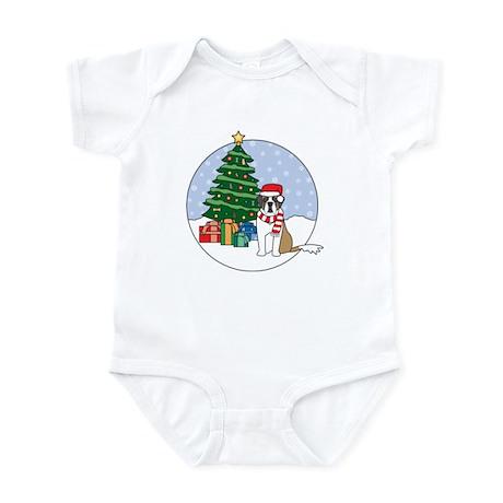 St Bernard Christmas Infant Bodysuit