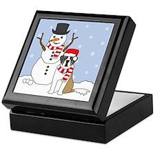 Saint Bernard Winter Keepsake Box