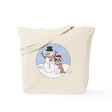 Saint Bernard Winter Tote Bag