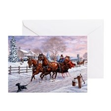 Sleigh Ride Greeting Cards (Pk of 20)