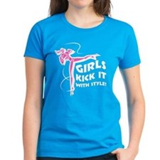 Girls Kick It with Style 2 Tee