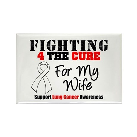 Fighting Lung Cancer Rectangle Magnet