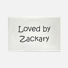Cute Zackary Rectangle Magnet