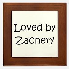 Cute Zachery Framed Tile