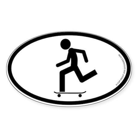 """Skater"" - Oval Sticker"