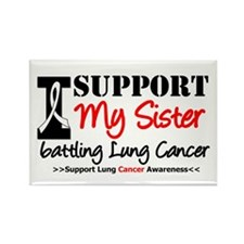Support Lung Cancer Awareness Rectangle Magnet