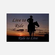 Ride to Live - Rectangle Magnet