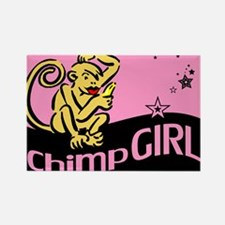 Chimp Girl Rectangle Magnet