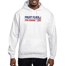 Fruit Flies for Obama Hoodie