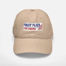 Fruit Flies for Obama Baseball Baseball Cap