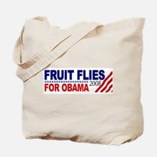 Fruit Flies for Obama Tote Bag