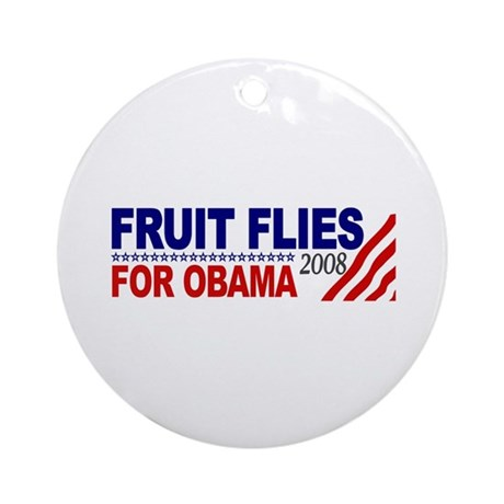 Fruit Flies for Obama Ornament (Round)
