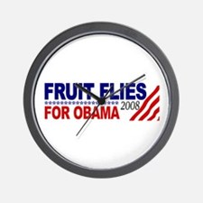 Fruit Flies for Obama Wall Clock