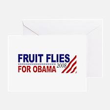 Fruit Flies for Obama Greeting Card