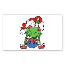 Silly Xmas Frog Elf Santa's Helper Decal