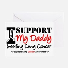 Support Lung Cancer Awareness Greeting Cards (Pk o