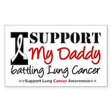 Support Lung Cancer Awareness Rectangle Sticker 1