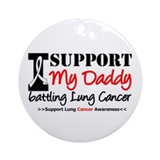 Support Lung Cancer Awareness Ornament (Round)